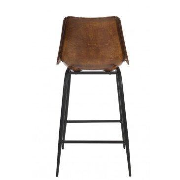 Chaise Bar Cuir/Métal Cognac | www.cosy-home-design.fr