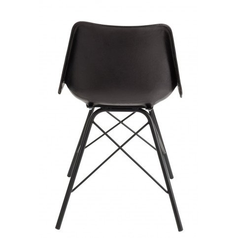 Chaise Loft Cuir/Métal Noir | www.cosy-home-design.fr