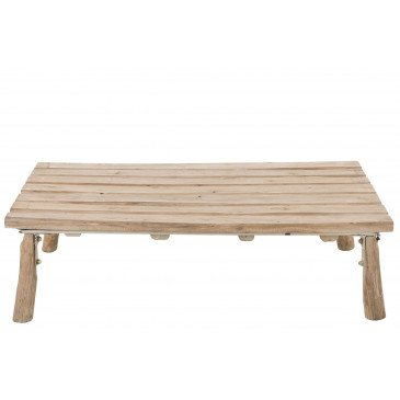 Table Basse Rectangulaire Chene Bois Naturel | www.cosy-home-design.fr