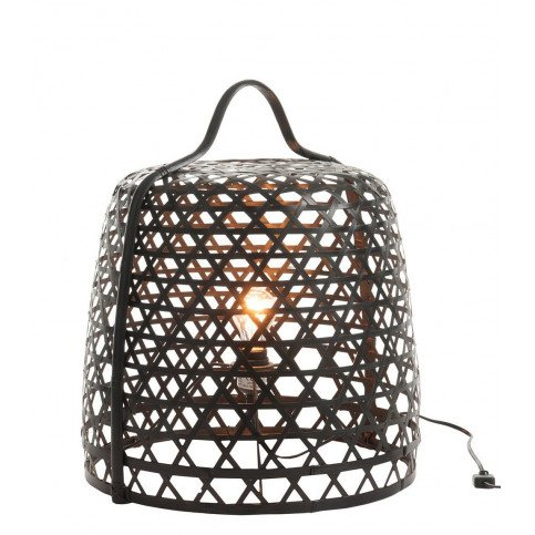 Lampe Basse Ronde Bambou Noir | www.cosy-home-design.fr