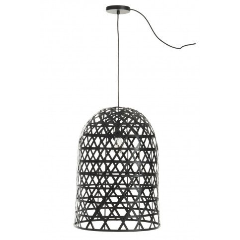 Suspension Cylindrique Bambou Noir | www.cosy-home-design.fr