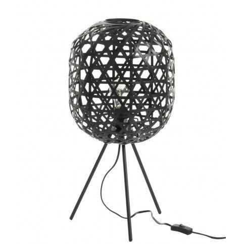 Lampe de Bureau Trépied Rond Bambou/Métal Noir | www.cosy-home-design.fr