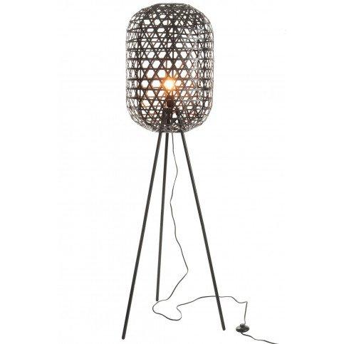 Lampe Trépied Ronde Bambou/Métal Noir | www.cosy-home-design.fr