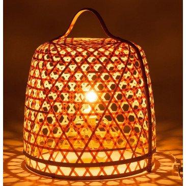 Lampe Basse Ronde Bambou Naturel | www.cosy-home-design.fr