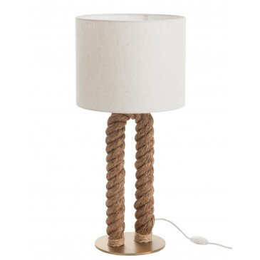 Lampe de Bureau en U Jute Naturel | www.cosy-home-design.fr