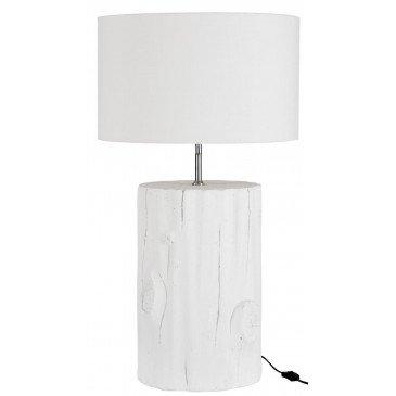 Lampe Cylindrique en Bois Blanc | www.cosy-home-design.fr