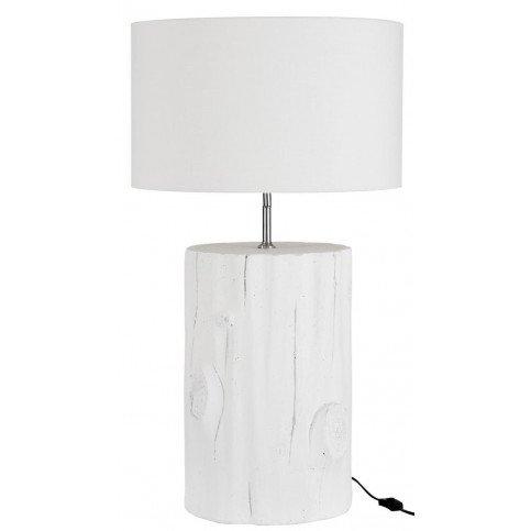 Lampe Cylindrique en Bois Blanc   www.cosy-home-design.fr