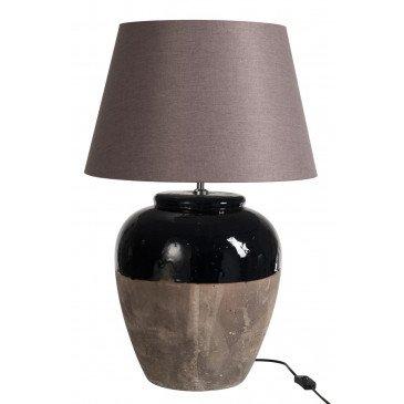 Lampe en Céramique Marron et Noir | www.cosy-home-design.fr
