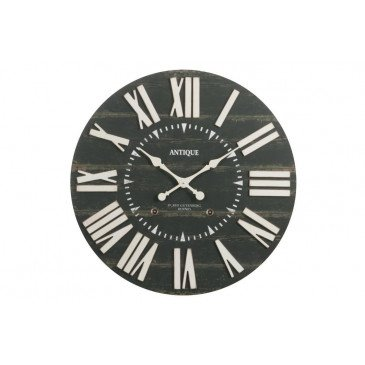 Horloge Antique Bois Noir Large | www.cosy-home-design.fr