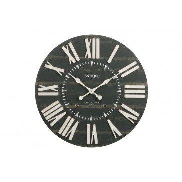 Horloge Antique Bois Noir Large | www.cosy-home-design.fr