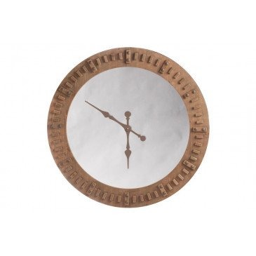 Horloge et Miroir Bois Naturel Large | www.cosy-home-design.fr