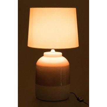 Lampe Céramique Rose/Blanc | www.cosy-home-design.fr