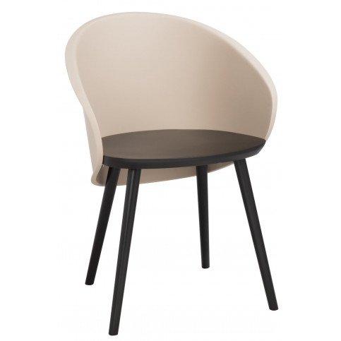 Chaise Penez Bois/Polypropylene Noir/Marron Clair | www.cosy-home-design.fr