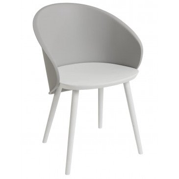 Chaise Penez Bois/Propylene Blanc/Greige | www.cosy-home-design.fr