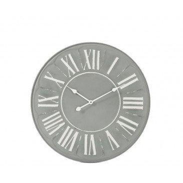 Horloge Ronde Métal Gris | www.cosy-home-design.fr