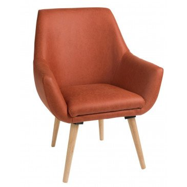 Chaise Retro Textile/Bois Orange | www.cosy-home-design.fr