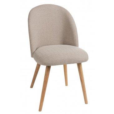 Chaise Vincent Textile/Bois Beige | www.cosy-home-design.fr