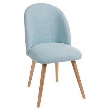 Chaise Vincent Textile/Bois Bleu Clair | www.cosy-home-design.fr