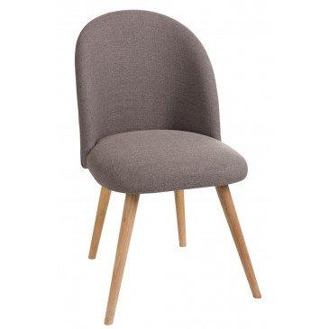 Chaise Vincent Textile/Bois Greige | www.cosy-home-design.fr