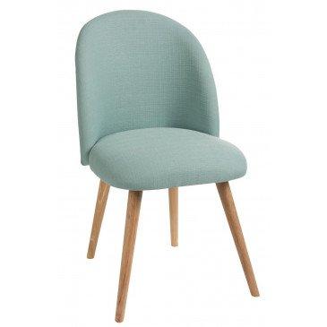 Chaise Vincent Textile/Bois Vert | www.cosy-home-design.fr