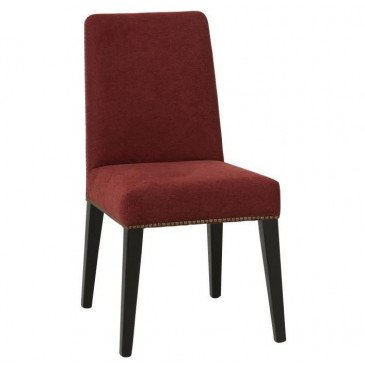 Chaise Velours Bouleau Rouge/Noir | www.cosy-home-design.fr
