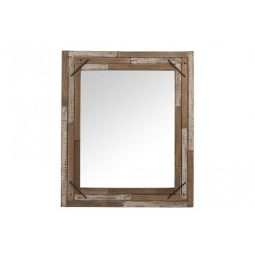 Miroir Antique Carré Bois Naturel | www.cosy-home-design.fr