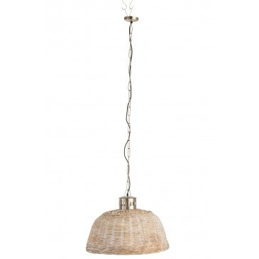 Suspension Ronde Bambou Beige Petit | www.cosy-home-design.fr