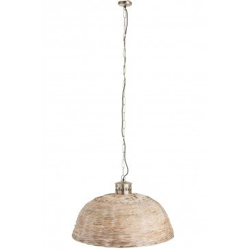 Suspension Ronde Bambou Beige Medium | www.cosy-home-design.fr