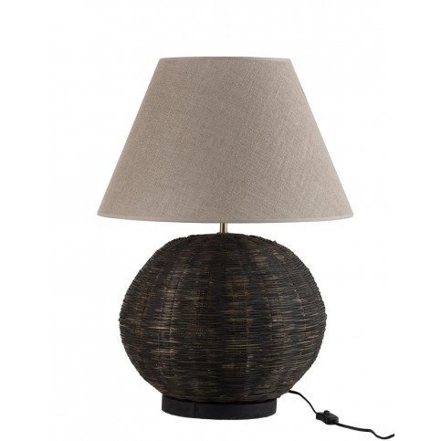 Lampe Ronde Bambou Noir | www.cosy-home-design.fr