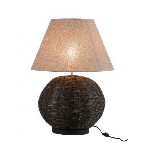 Lampe Ronde Bambou Noir | www.cosy-home-design.fr