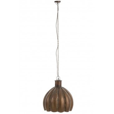 Suspension Fleur Ronde Métal Marron | www.cosy-home-design.fr