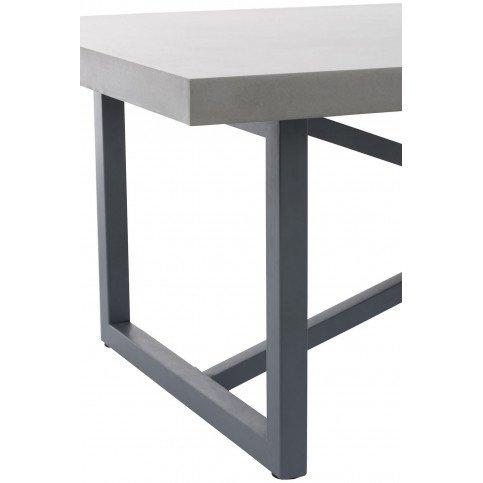 Table Basse Beton Finish Rectangulaire Bois/Métal Gris | www.cosy-home-design.fr