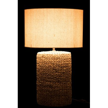 Lampe Tresses Abat-Jour en Lin Beige | www.cosy-home-design.fr