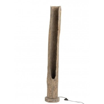 Lampe Tronc Ouvert Paulownia Grey Wash | www.cosy-home-design.fr