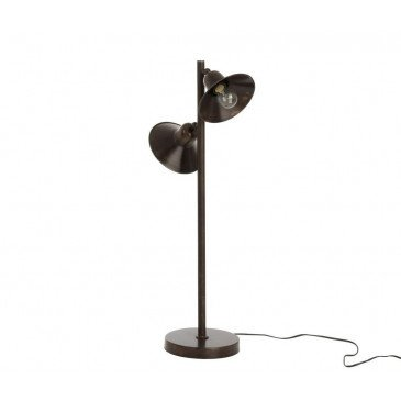 Lampe 2 Parties Fer Marron Foncé | www.cosy-home-design.fr