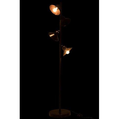 Lampe 4 Parties Fer Marron Foncé | www.cosy-home-design.fr