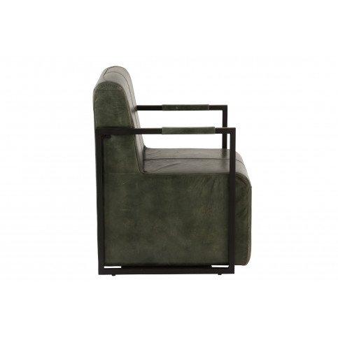 Chaise Cuir/Métal Vert/Noir | www.cosy-home-design.fr