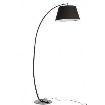 Lampe Sur Pied Arrondie Métal Noir | www.cosy-home-design.fr