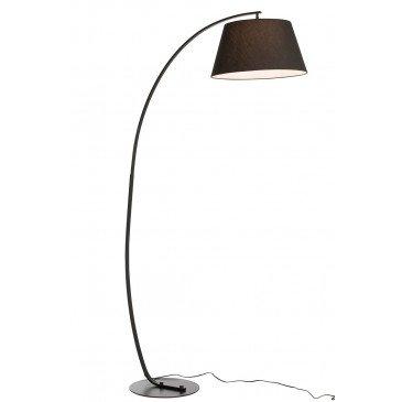 Lampe Sur Pied Arrondie Métal Noir   www.cosy-home-design.fr
