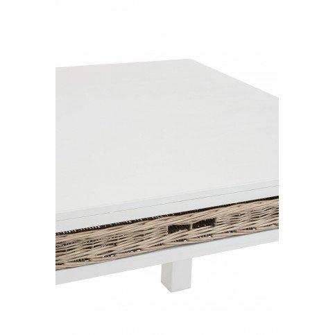 Table et Panier Carrée Bois Blanc | www.cosy-home-design.fr