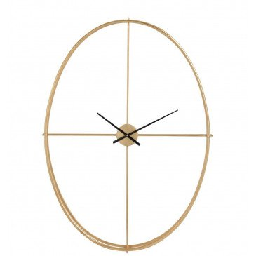Horloge Ovale Métal Or Large | www.cosy-home-design.fr