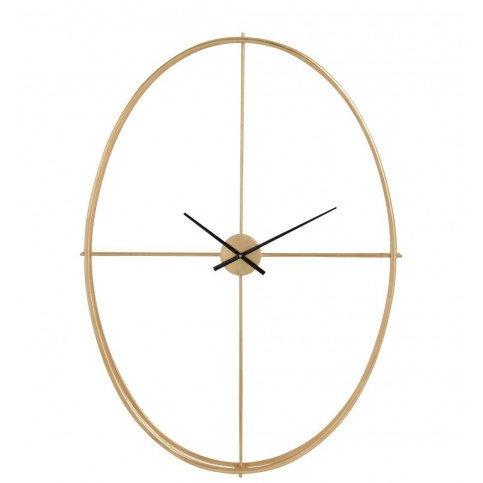 Horloge Ovale Métal Or Large | www.cosy-home-design.fr