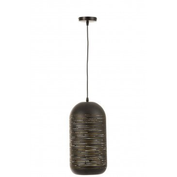 Suspension Ouverte Trous Métal Noir/Or | www.cosy-home-design.fr
