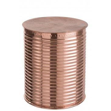 Tabouret Rond Nervure Aluminium Cuivre | www.cosy-home-design.fr