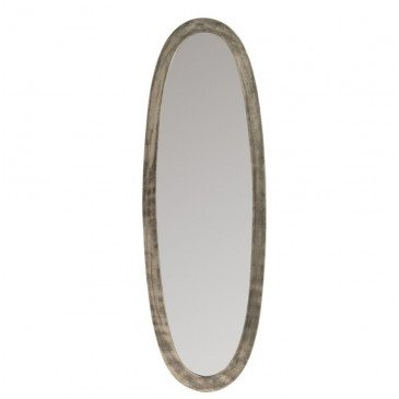 Miroir Ovale Aluminium/Verre Antique Gris Petit | www.cosy-home-design.fr