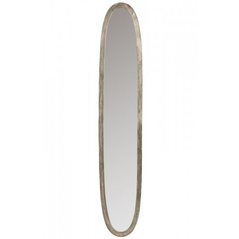 Miroir Ovale Aluminium/Verre Antique Gris Large   www.cosy-home-design.fr