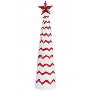 Sapine de Noël Ciment Rouge/Blanc L | www.cosy-home-design.fr