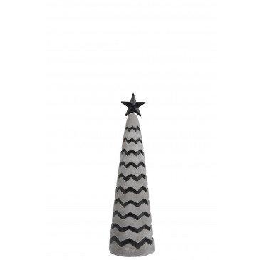 Sapine de Noël Ciment Gris/Noir S | www.cosy-home-design.fr