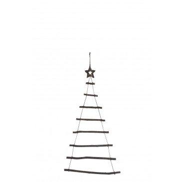 Sapin De Noël Branche et Etoile Bois Noir Medium | www.cosy-home-design.fr