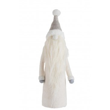 Pere Noël Barbe Longue Textile Gris/Blanc Large | www.cosy-home-design.fr